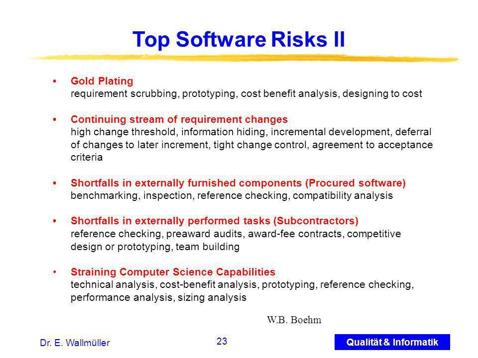 23 Qualität & Informatik Dr. E.
