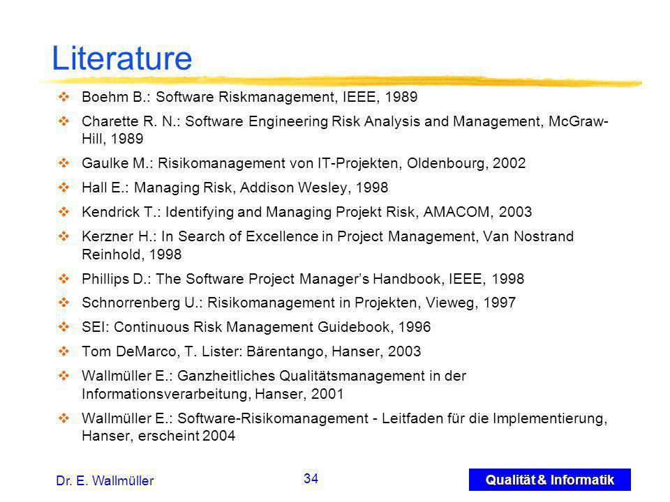 34 Qualität & Informatik Dr. E.