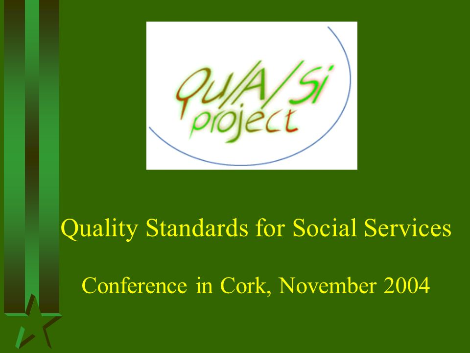 Quality Standards for Social Services Conference in Cork, November 2004