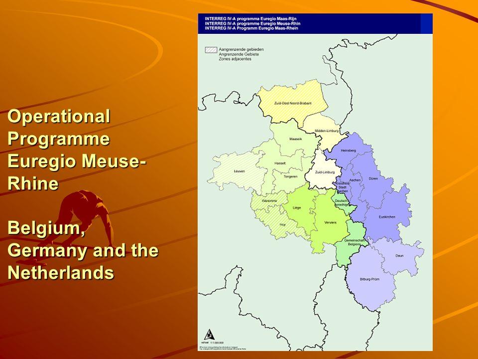 INTERREG 2007- 2013: Financial Volume and Main Topics Euregio Meuse-Rhine 144 Mio.