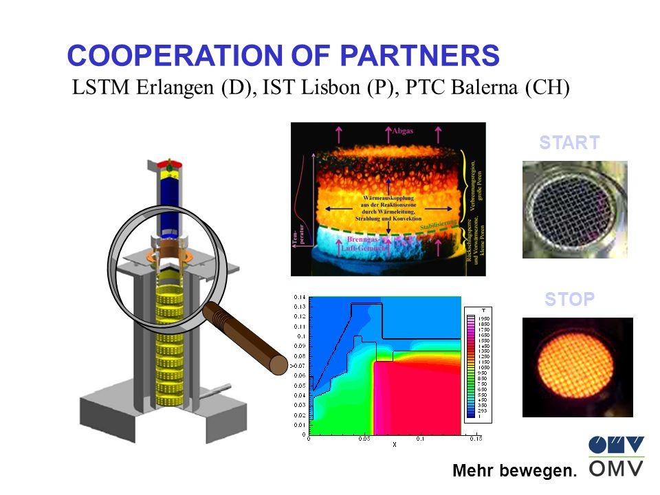 Mehr bewegen. COOPERATION OF PARTNERS LSTM Erlangen (D), IST Lisbon (P), PTC Balerna (CH) START STOP