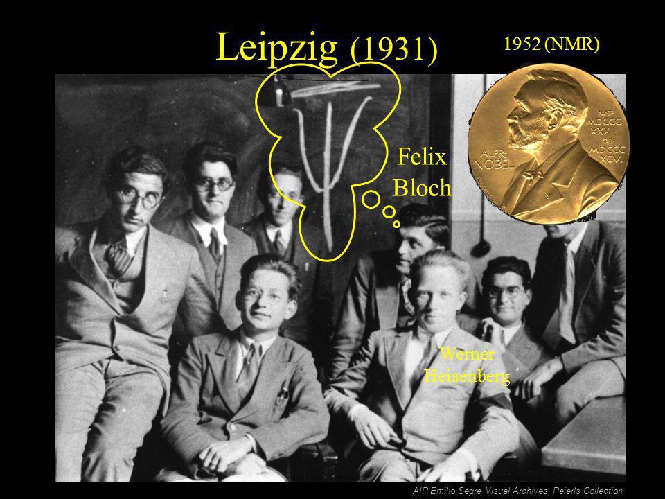 Leipzig (1931) AIP Emilio Segre Visual Archives, Peierls Collection Werner Heisenberg Felix Bloch 1952 (NMR)