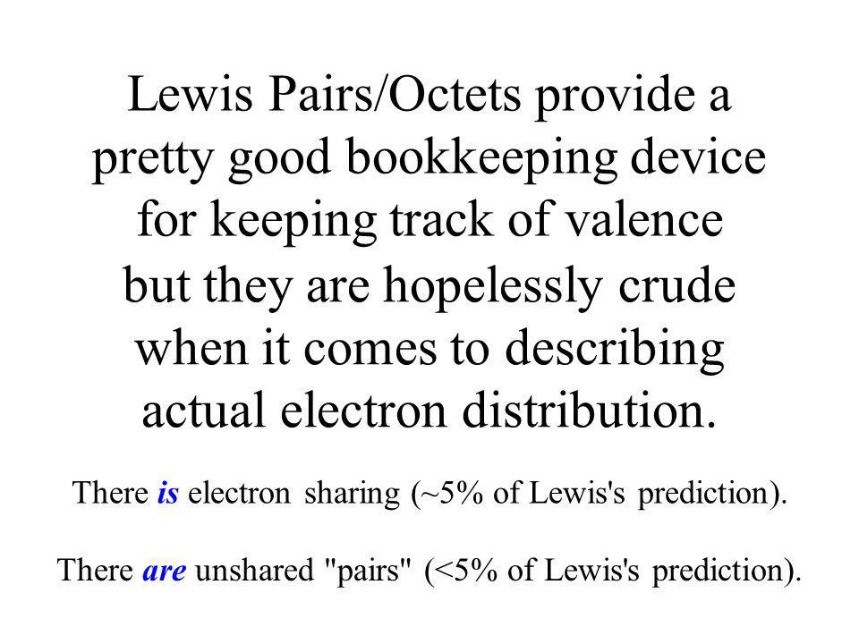 Lewis Pairs/Octets provide a pretty good bookkeeping device for keeping track of valence but they are hopelessly crude when it comes to describing act