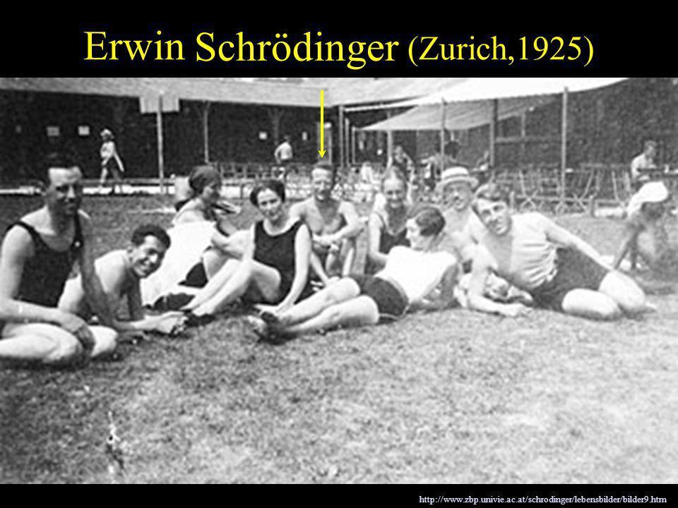 Erwin Schrödinger (Zurich,1925) Schrödinger Wave Equation (1926) http://www.zbp.univie.ac.at/schrodinger/lebensbilder/bilder9.htm