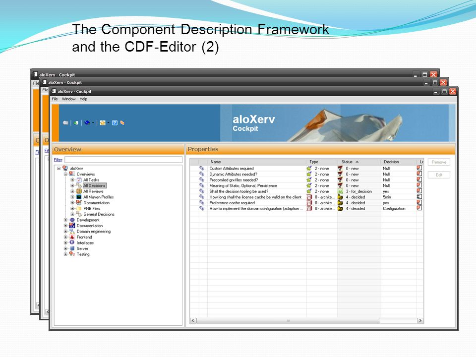 The Component Description Framework and the CDF-Editor (2) Existing open source CDF-extensions: History (Release-Notes)/svn, Files (e.g.