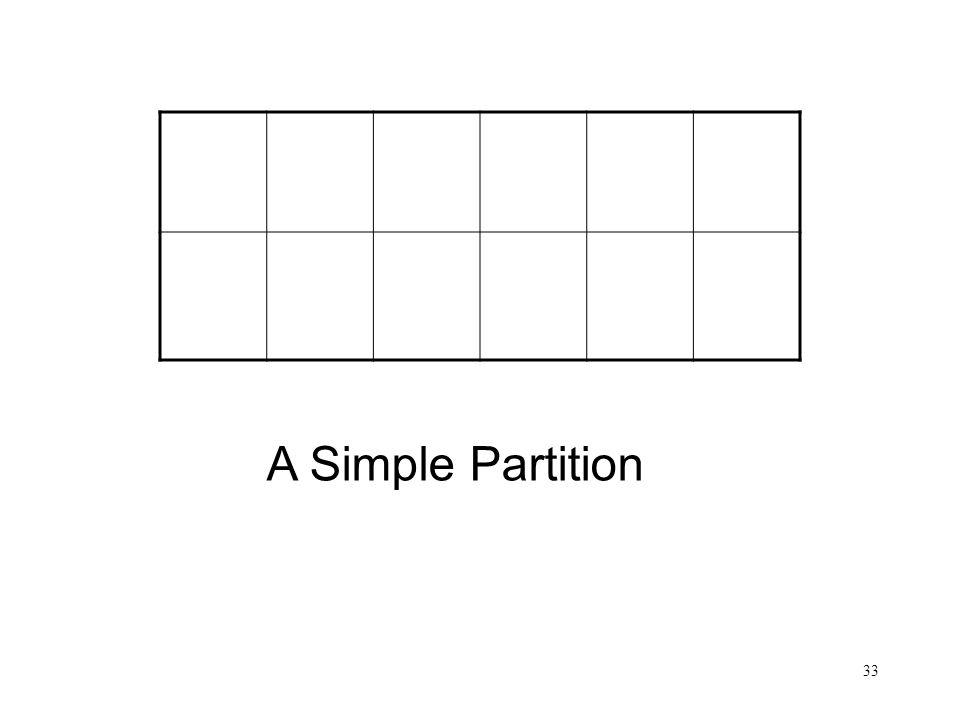 33 A Simple Partition