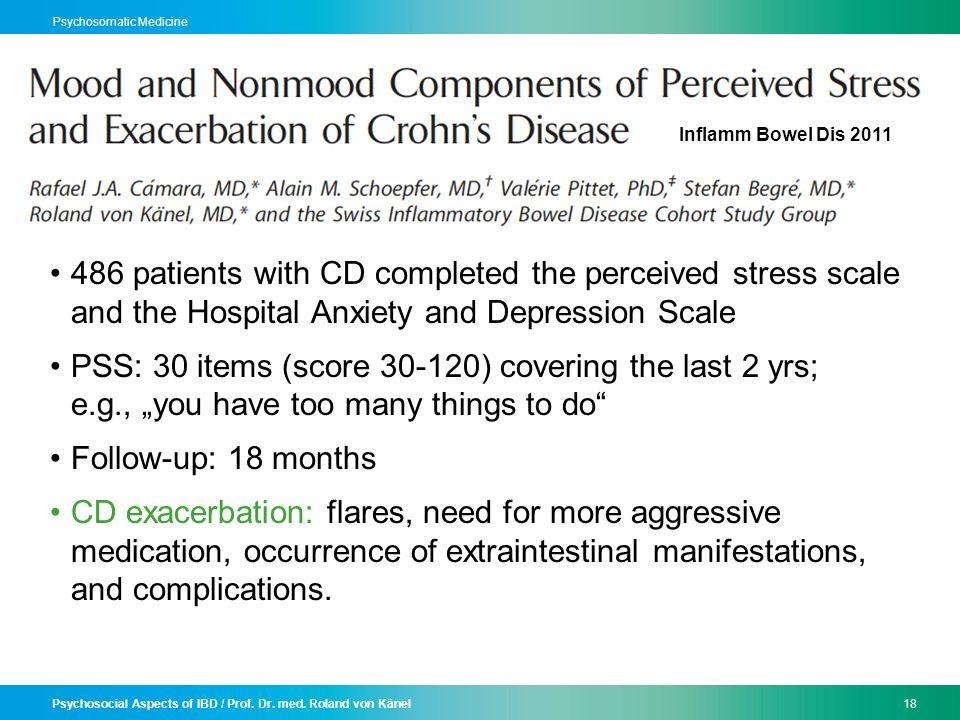 Psychosocial Aspects of IBD / Prof. Dr. med.