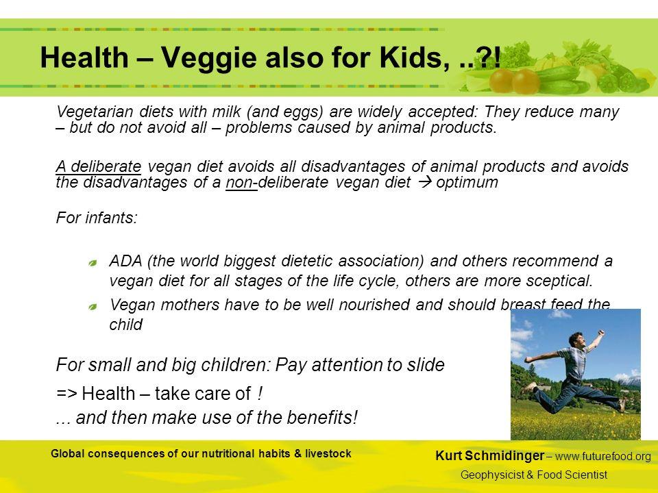 Kurt Schmidinger – www.futurefood.org Geophysicist & Food Scientist Global consequences of our nutritional habits & livestock Health – Veggie also for