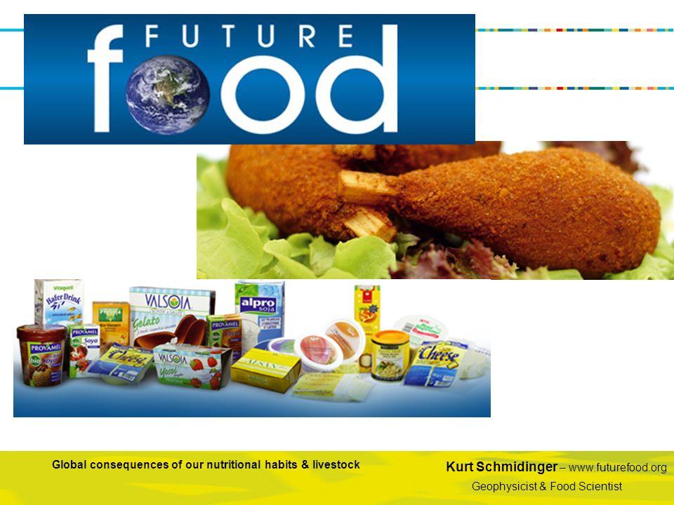 Kurt Schmidinger – www.futurefood.org Geophysicist & Food Scientist Global consequences of our nutritional habits & livestock