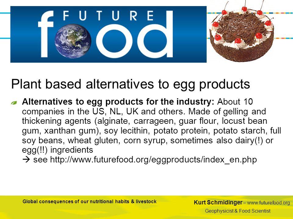 Kurt Schmidinger – www.futurefood.org Geophysicist & Food Scientist Global consequences of our nutritional habits & livestock Alternatives to egg prod