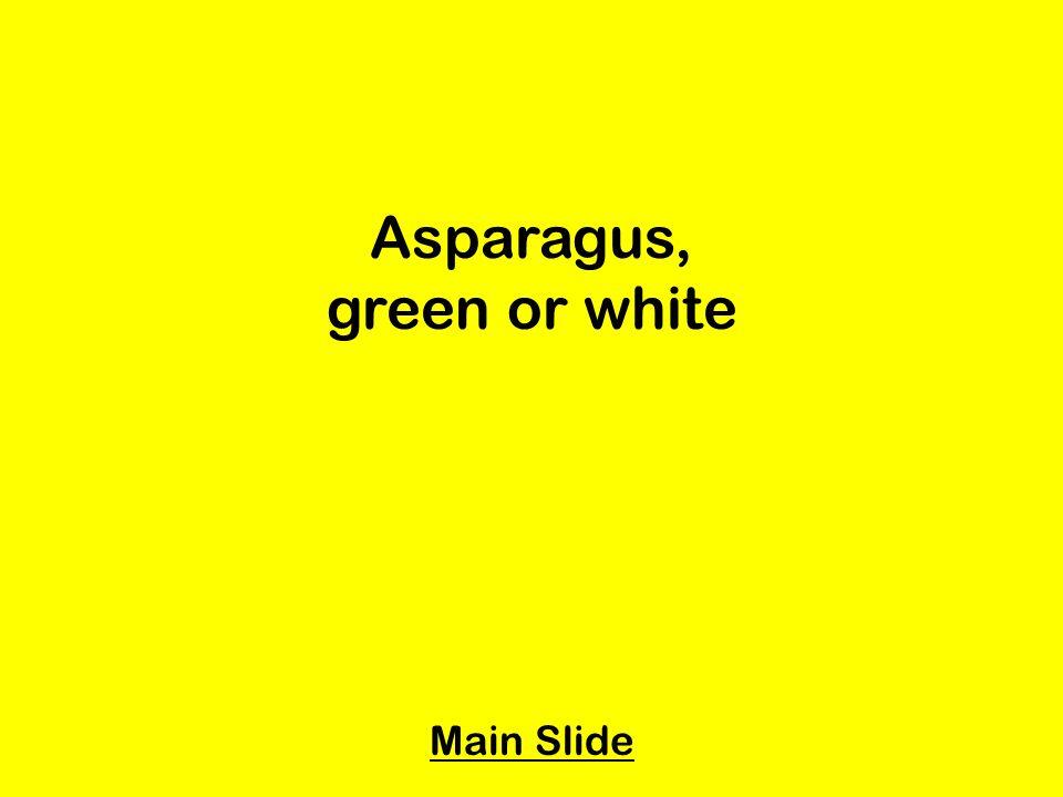 Asparagus, green or white Main Slide