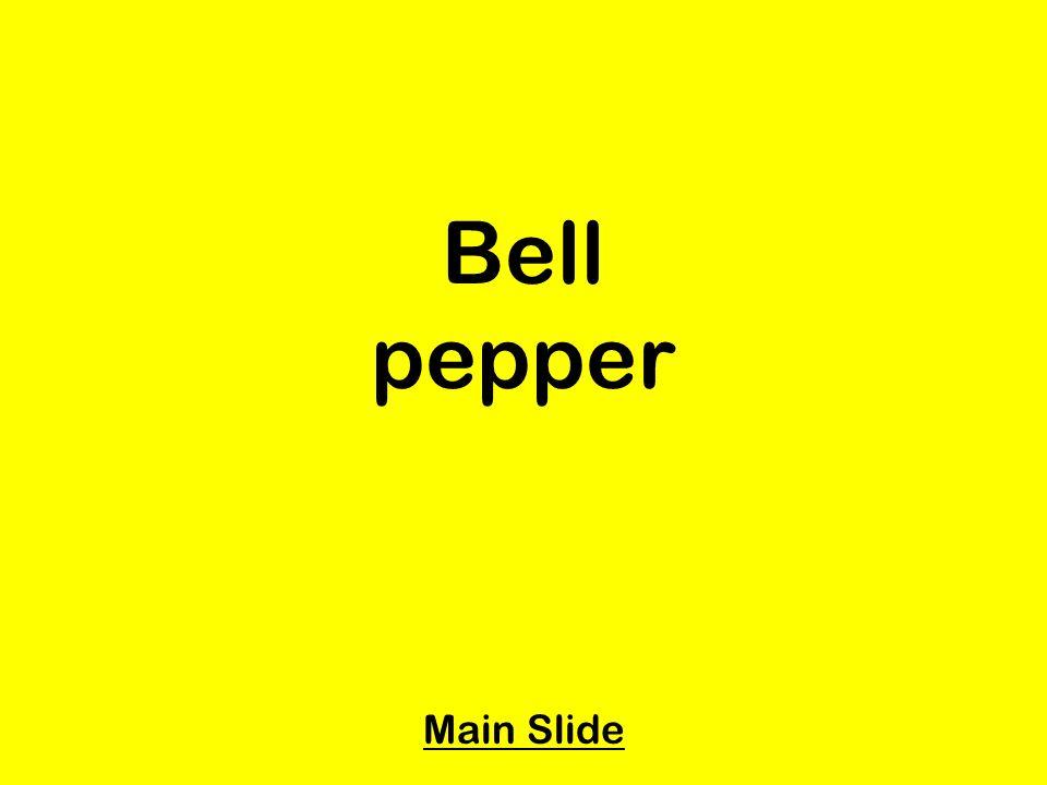 Bell pepper Main Slide
