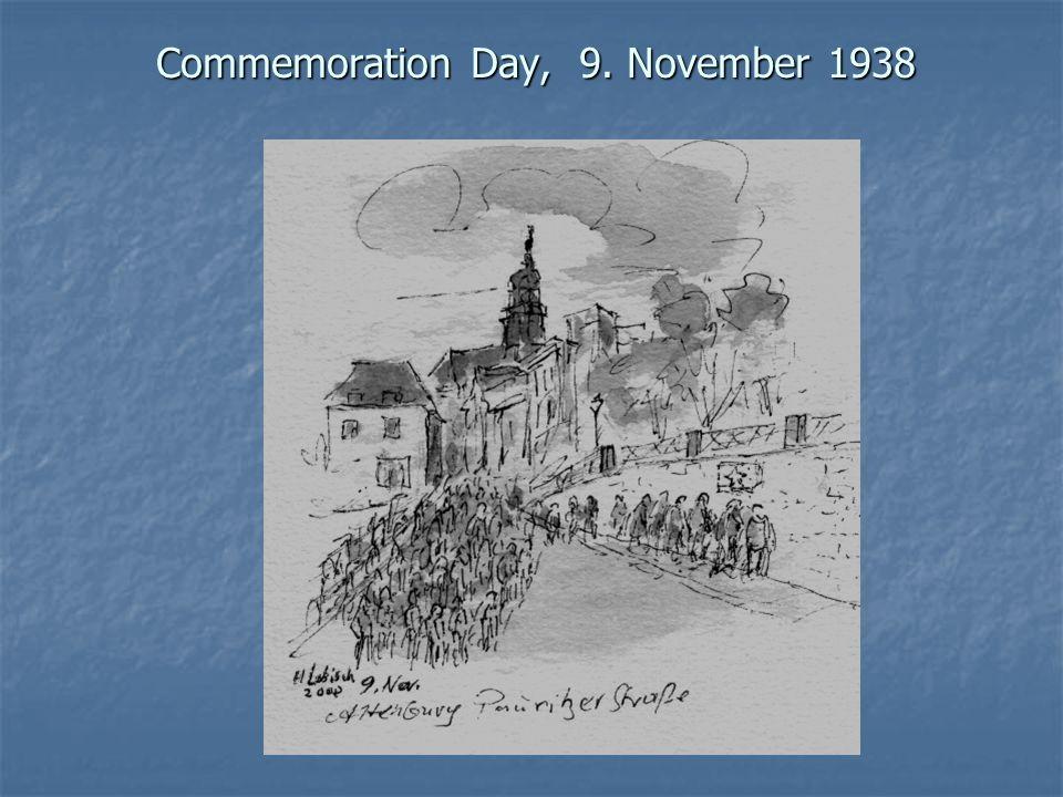 Commemoration Day, 9. November 1938
