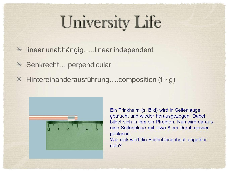 University Life Ein Trinkhalm (s. Bild) wird in Seifenlauge getaucht und wieder herausgezogen.