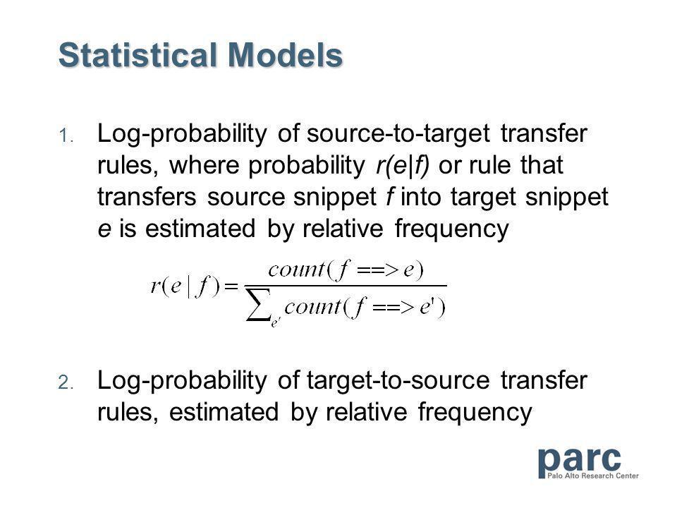 Statistical Models 1.
