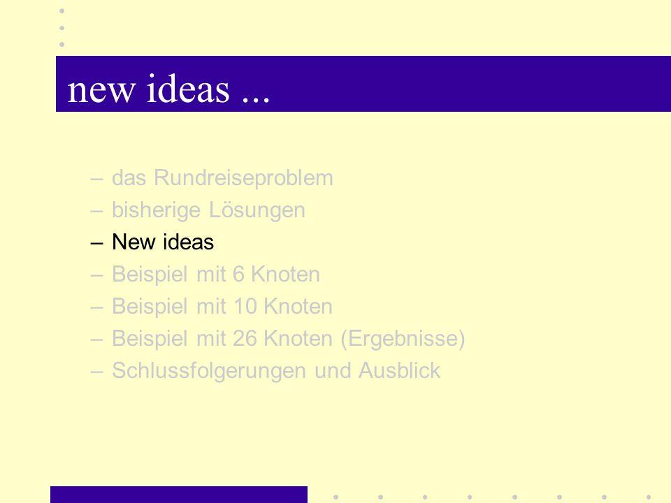 new ideas...
