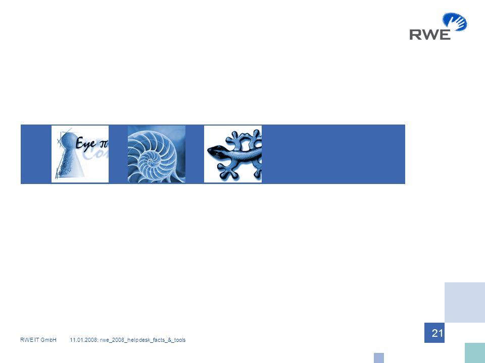 RWE IT GmbH 11.01.2008: rwe_2008_helpdesk_facts_&_tools 21