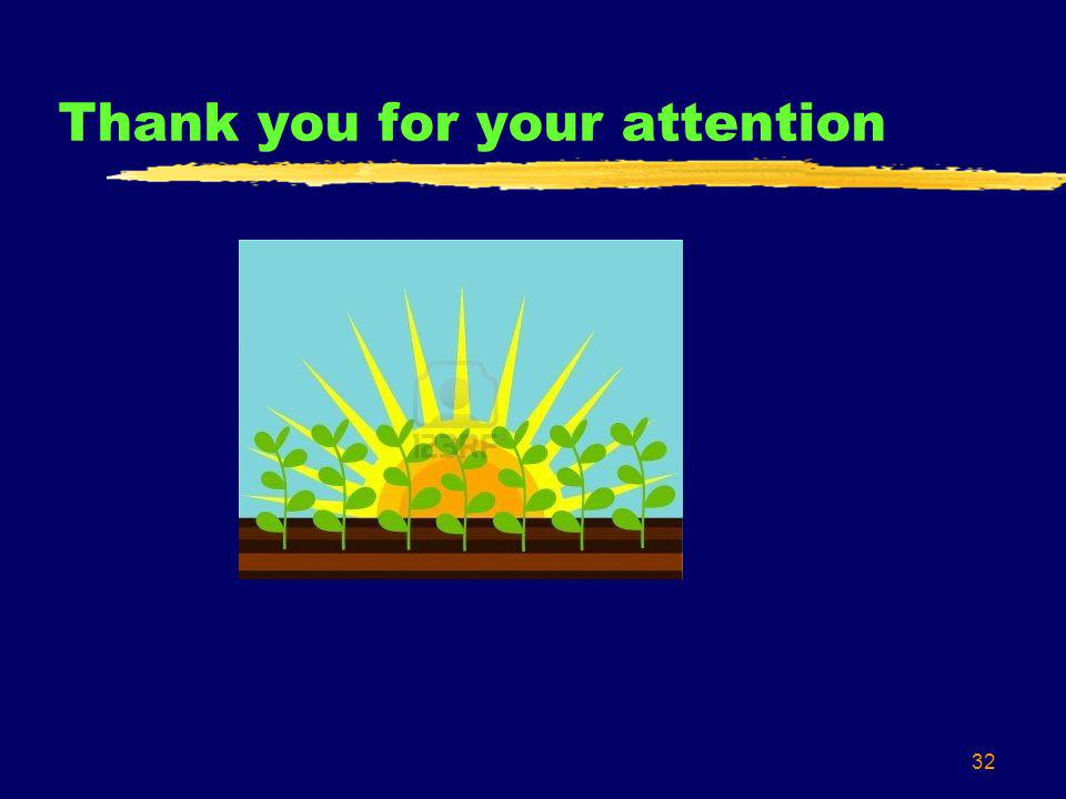 32 Thank you for your attention