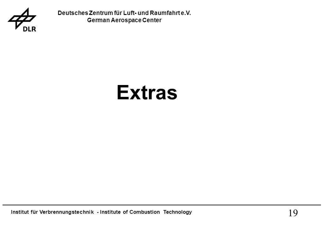 Institut für Verbrennungstechnik - Institute of Combustion Technology Deutsches Zentrum für Luft- und Raumfahrt e.V. German Aerospace Center 19 Extras
