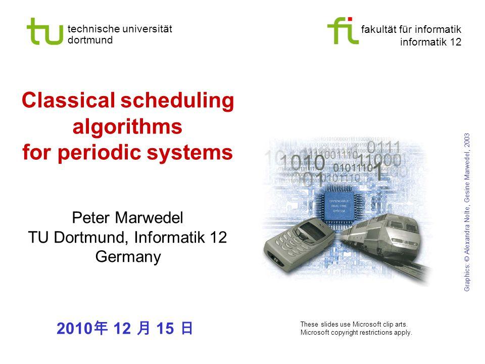 fakultät für informatik informatik 12 technische universität dortmund Classical scheduling algorithms for periodic systems Peter Marwedel TU Dortmund,