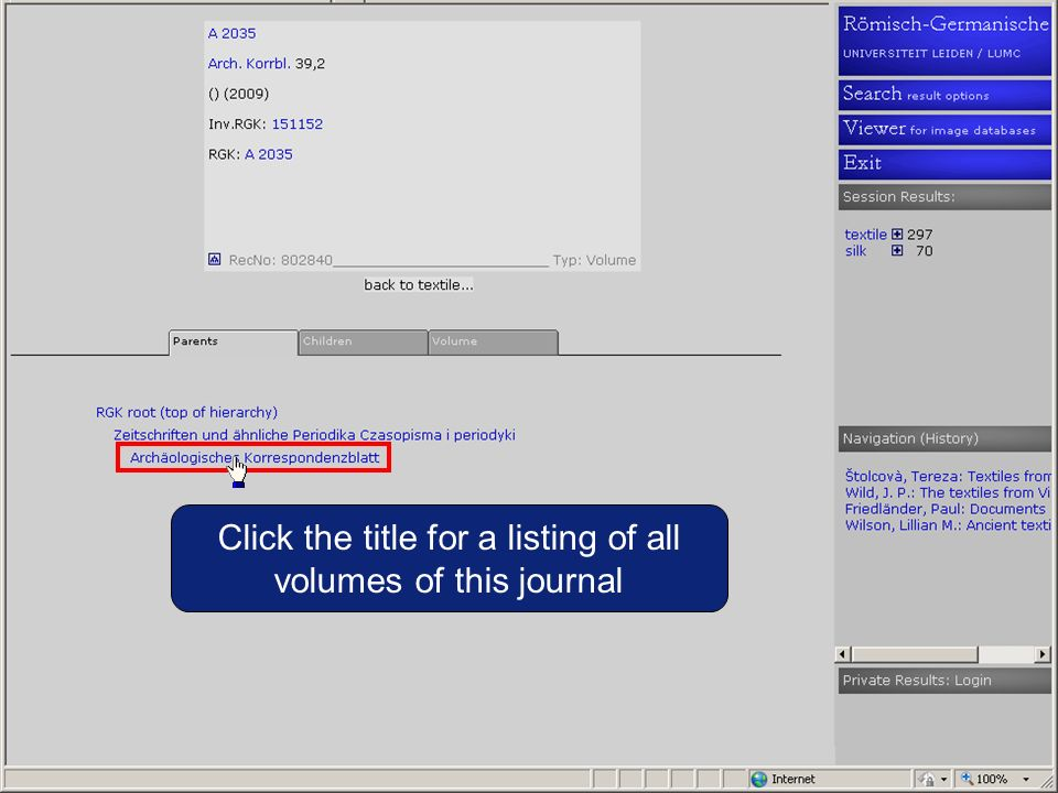 Click the title for a listing of all volumes of this journal