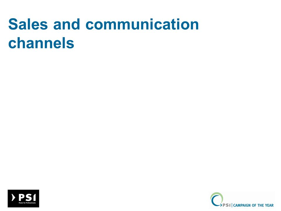 Sales and communication channels