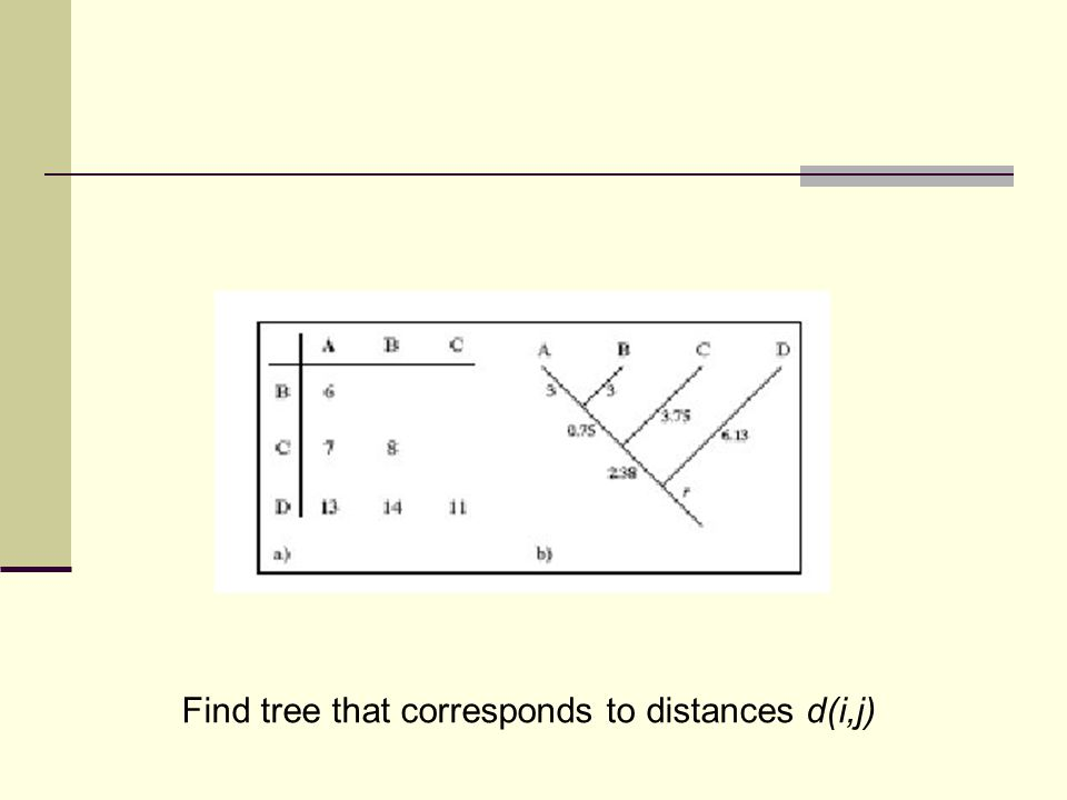 Find tree that corresponds to distances d(i,j)