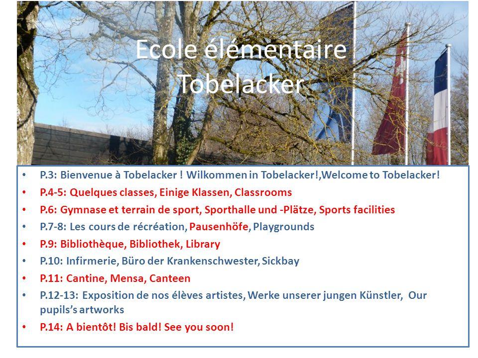 Ecole élémentaire Tobelacker P.3: Bienvenue à Tobelacker .