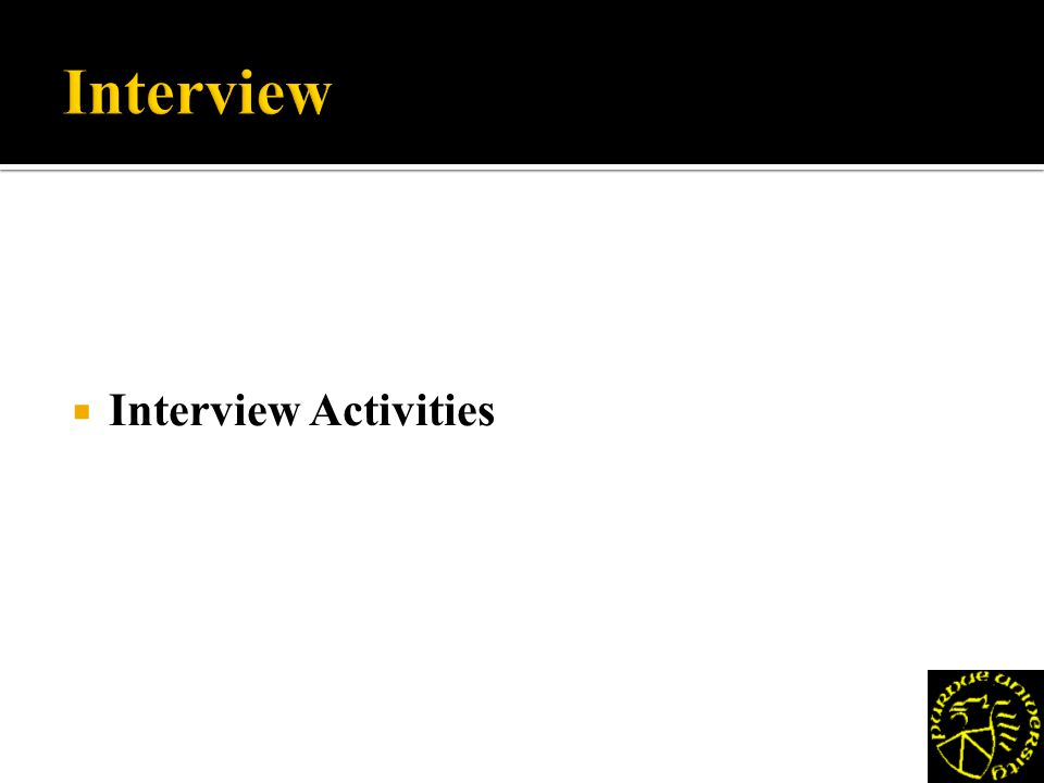 Interview Activities