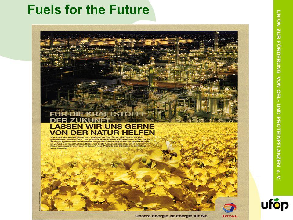 UNION ZUR FÖRDERUNG VON OEL- UND PROTEINPFLANZEN e. V. Fuels for the Future
