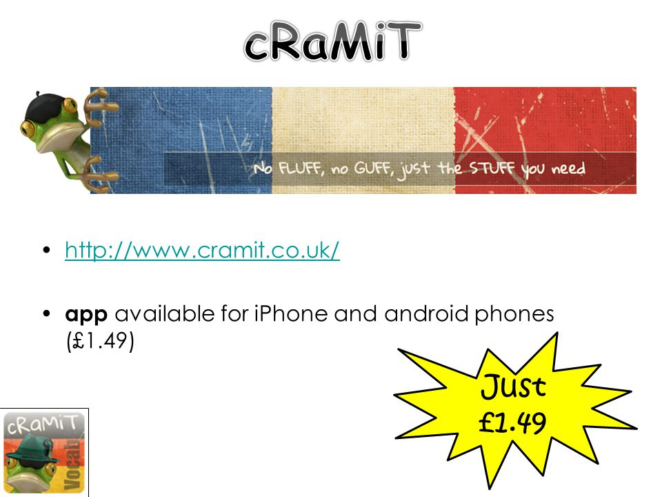 http://www.cramit.co.uk/ app available for iPhone and android phones (£1.49) Just £1.49