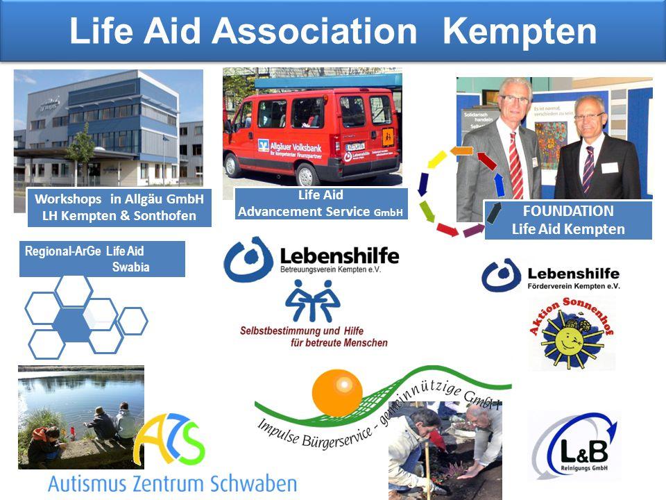 Life Aid Association Kempten Life Aid Advancement Service GmbH Regional-ArGe Life Aid Swabia Workshops in Allgäu GmbH LH Kempten & Sonthofen