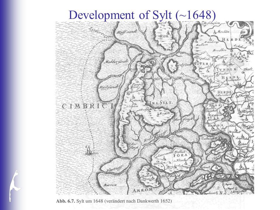 Development of Sylt (~1648)