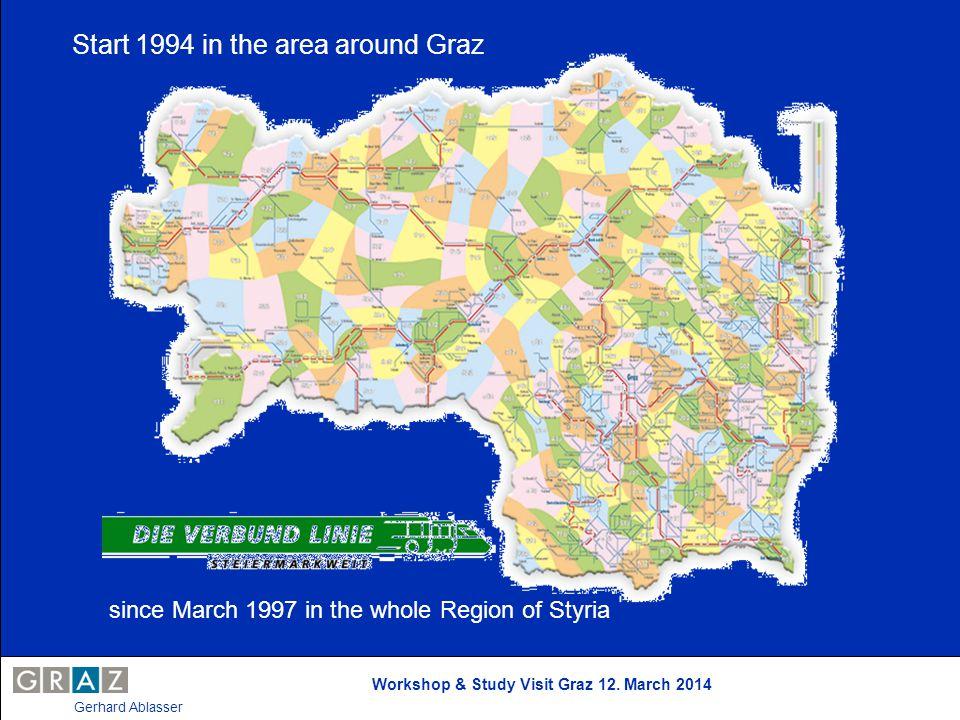 Workshop & Study Visit Graz 12. March 2014 Gerhard Ablasser since March 1997 in the whole Region of Styria Start 1994 in the area around Graz