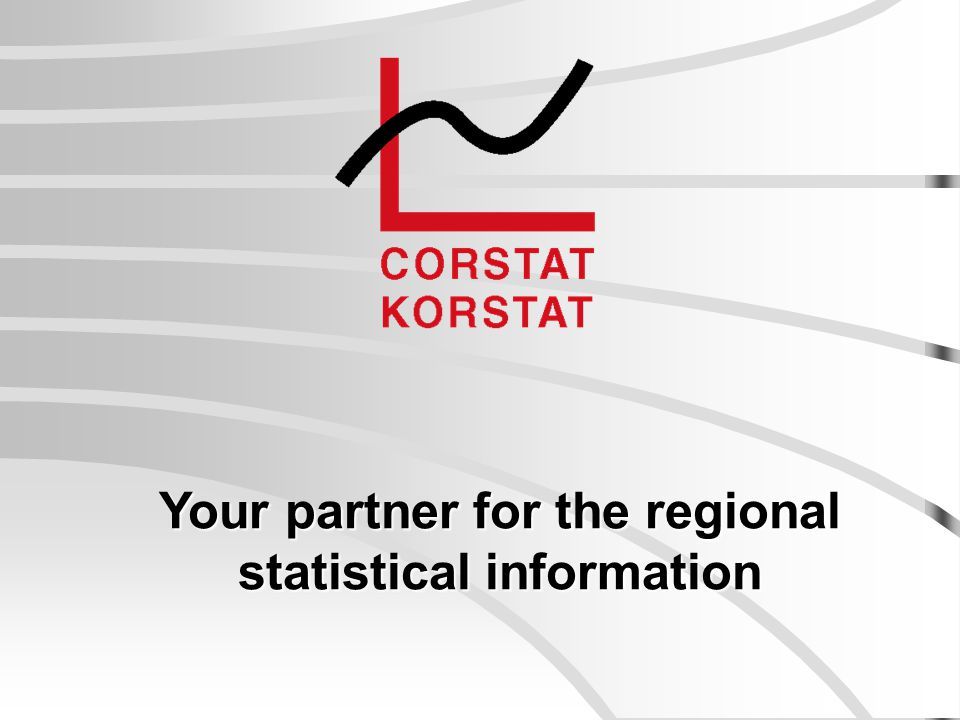 Your partner for the regional statistical information