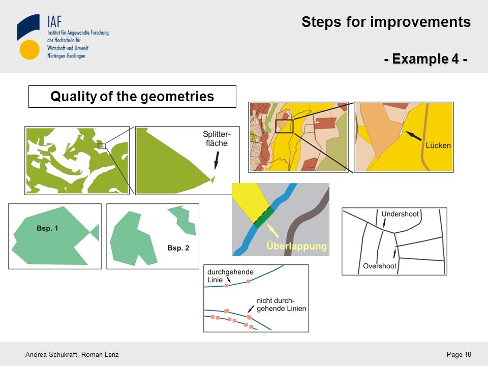 Steps for improvements - Example 4 - Andrea Schukraft, Roman Lenz Page 18 Quality of the geometries