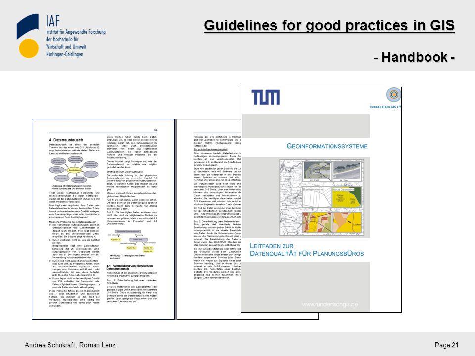 Guidelines for good practices in GIS - Handbook - Andrea Schukraft, Roman Lenz Page 21