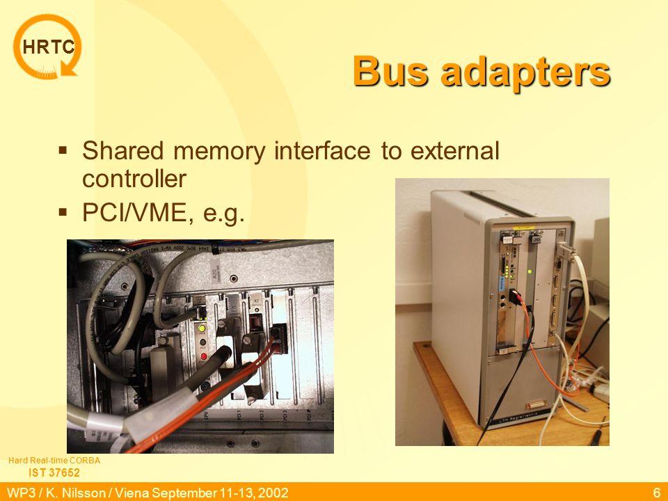 HRTC IST 37652 Hard Real-time CORBA WP3 / K.