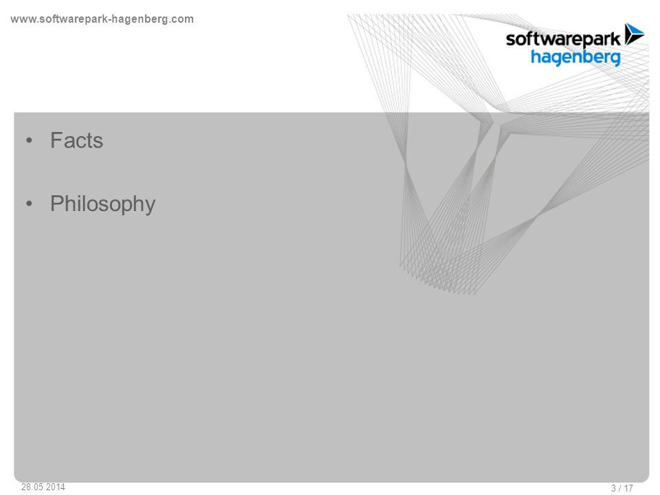 www.softwarepark-hagenberg.com 28.05.2014 3 / 17 Facts Philosophy