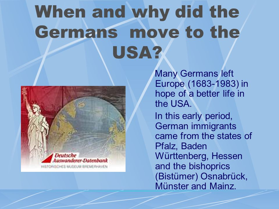 GERMAN EMIGRANTS