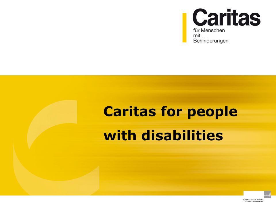 Caritas for people with disabilities