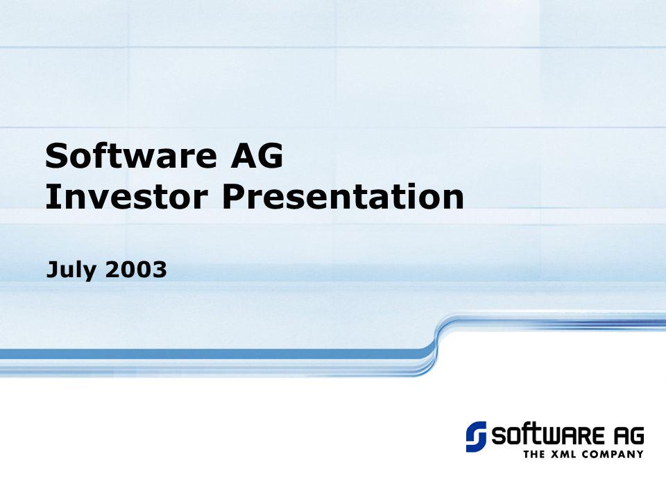 Software AG Investor Presentation July 2003