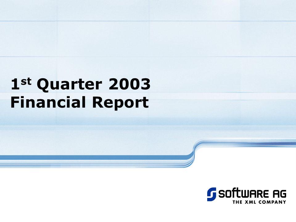 1 st Quarter 2003 Financial Report