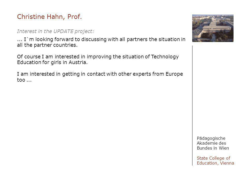 Christine Hahn, Prof.
