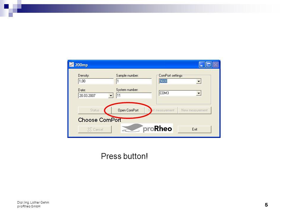 26 Dipl.Ing. Lothar Gehm proRheo GmbH Open file: