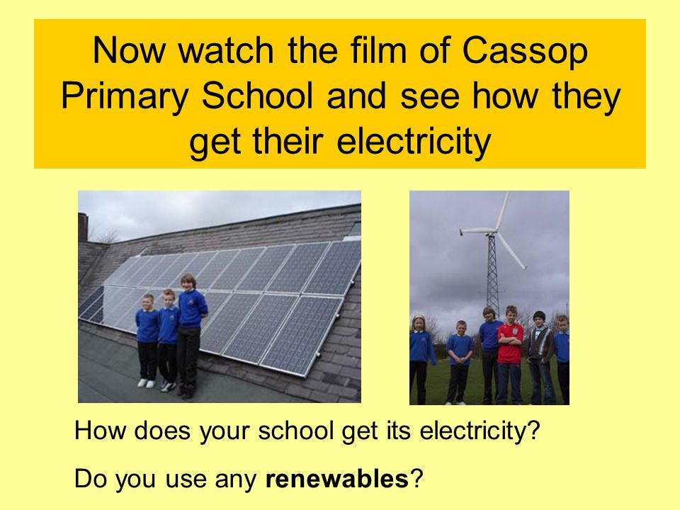 How else can we produce electricity.