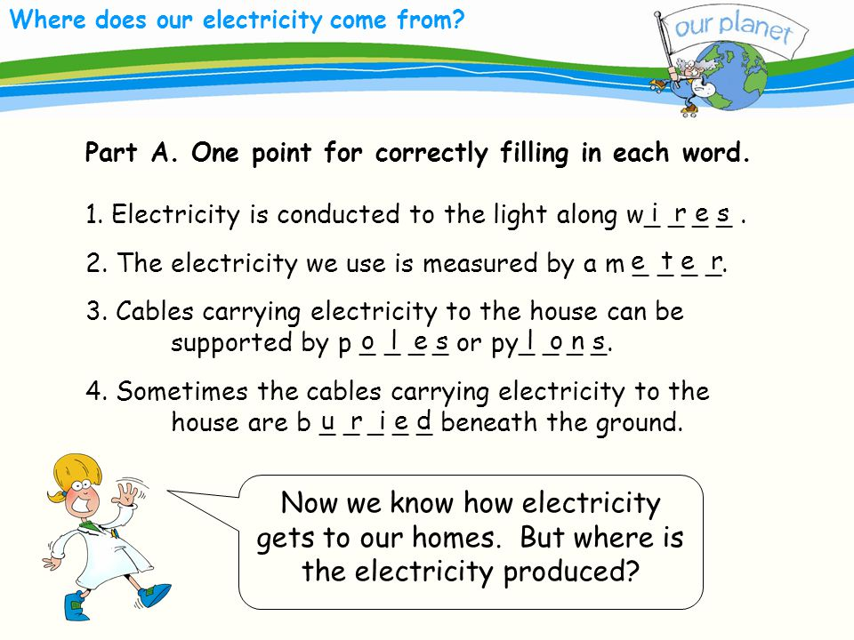 Where does our electricity come from. Now we know how electricity gets to our homes.
