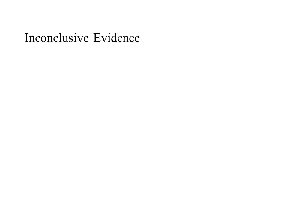 Inconclusive Evidence