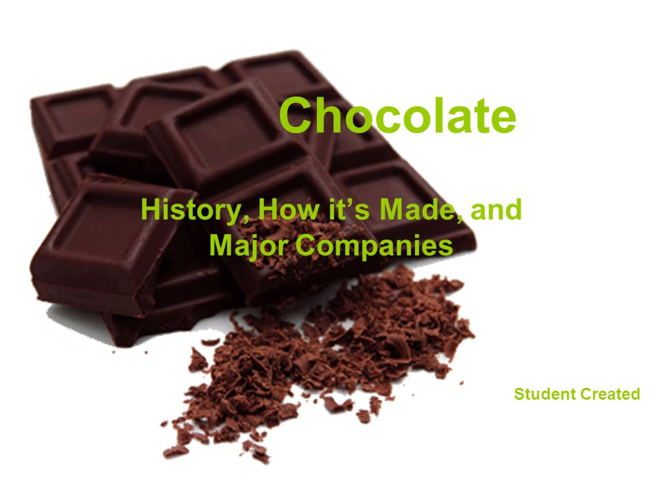 Chocolate History, How its Made, and Major Companies Student Created