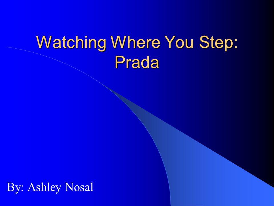Watching Where You Step: Prada By: Ashley Nosal